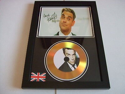 Robbie Williams    SIGNED  GOLD CD  DISC  91