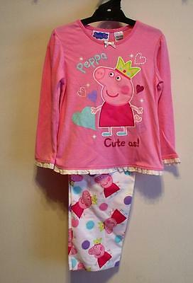 Girls Size 4 Licensed PEPPA PIG Pink Knit/Flannel PJ'S New with tags