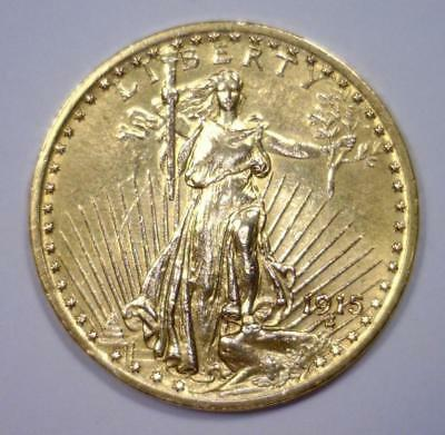 1915 $20 St Gaudens Double Eagle XF det. Polished Lot 1679K