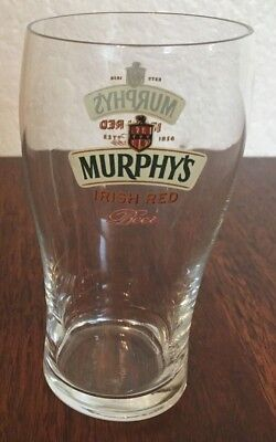 "Murphy's Irish Red Beer Glass 5.25"" Tall 12 oz."