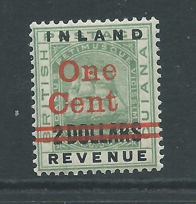 Fiscal/Revenues Stamp British Guiana IR 1 cent Overprint Two Dollars r982j