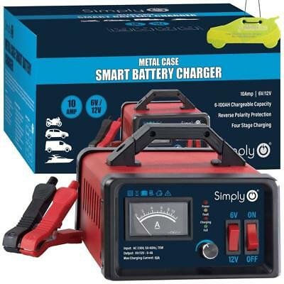 Heavy Duty Metal Case 6V / 12V 10Amp Smart Battery Trickle Automatic Charger Car