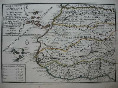 1705 - De FER - Map WESTERN AFRICA with CANARY & CAPE VERDE Is