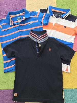 Bundle Of Boys Summer Next Polo Shirt / Tops Size 4-5 Years