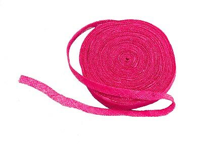 Sinamay Bias Binding Tape for Millinery 1 cm Wide - Hot Pink - 10 Meter Roll