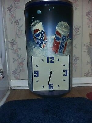 Pepsi and Diet Pepsi Commercial Wall Clock
