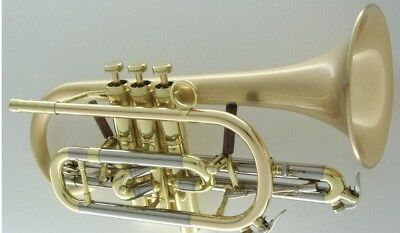 Carol Brass Professional Bb Cornet Satin Lacquer Bell Pre Owned With Case