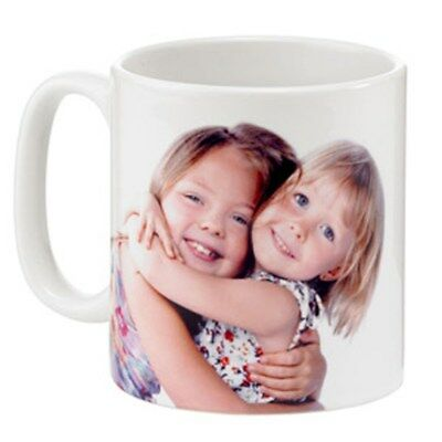 Personalised photo gift mug. Printed with a single image on either side.