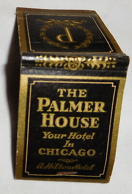 vintage The Palmer House Hotel Chicago Illinois EMPTY Matchbook