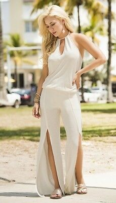 Mapale style 1879 Women's Jumpsuit, S, M, L, XL, Grey or Ivory