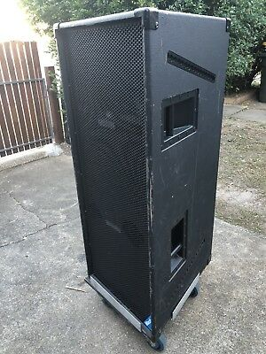 "Drum Fill Speaker Dual 15"" And Horn On Dolley 1000watts RMS"