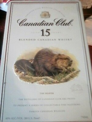 Canadian Club Wildlife Collection Canadian Club collectable tin