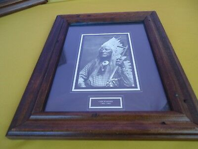 CHIEF WASHAKIE (1804-1900) Indian Chief Framed Print/Glass BLACK & WHITE #5312