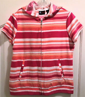 Ny Jeans - Striped Terry Cloth Hoodie!   Sz M   Nwot!