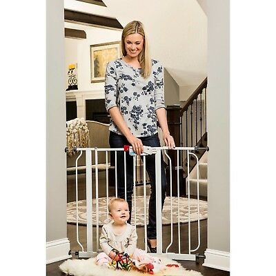 Easy Step Baby Doorway Tall Safety Gate with Included Extension By Regalo