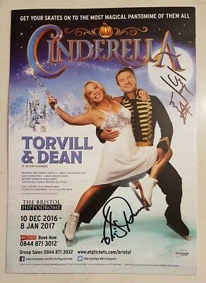 JAYNE TORVILL AND CHRISTOPHER DEAN SIGNED IN PERSON 8 x 6 Inch Promo ICE SKATING