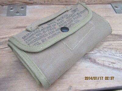 B100%Ori WWII WW2 D-Day 1944 M1 Garand Carbine 1911 M1919 Spare Parts Pouch Roll