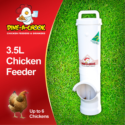 DINE-a-CHOOK Chicken Feeder / Poultry / Coop / Free Range / Drinkers Available