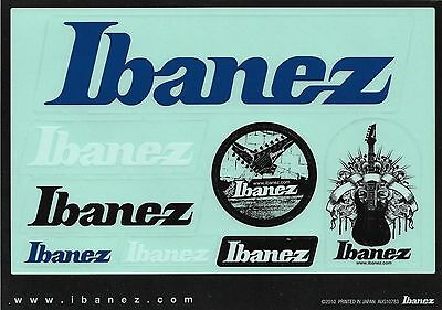 Sheet of 8 Ibanez Guitars Transparent Stickers from Japan - New & Mint