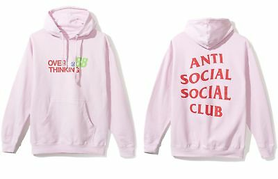 cd88ff563f42 DS Anti Social Social Club ASSC logo Over Time Thinking 88 PINK Hoodie in  hand