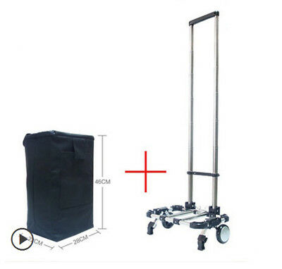 D52 Rugged Aluminium Luggage Trolley Hand Truck Folding Foldable Shopping Cart