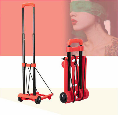 D32 Rugged Aluminium Luggage Trolley Hand Truck Folding Foldable Shopping Cart