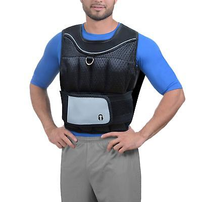 Sporteq Weighted Vest Weight Loss Training Running Adjustable Jacket Fitness Gym