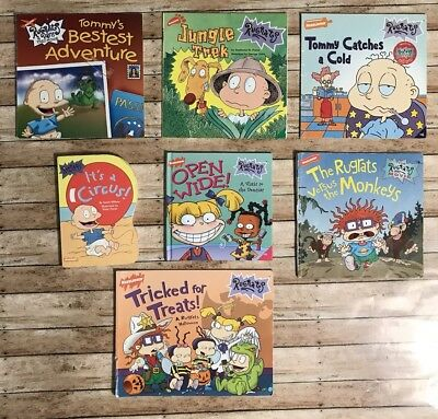 Lot Of 7 Rugrats Books 90 S Childrens Cartoon Paperback Board Books