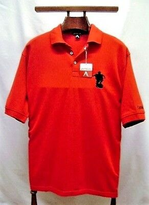Men's Golf Shirt Polo Red Antigua Captain Morgan Size Small 100% Cotton NWT