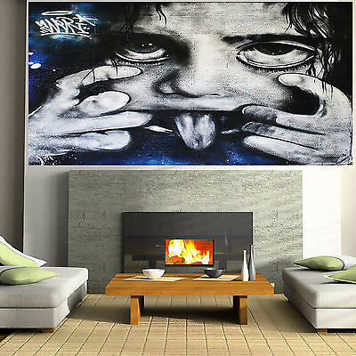 Abstract Art Painting Street Kid Face full Funny Canvas Australia by Pepe