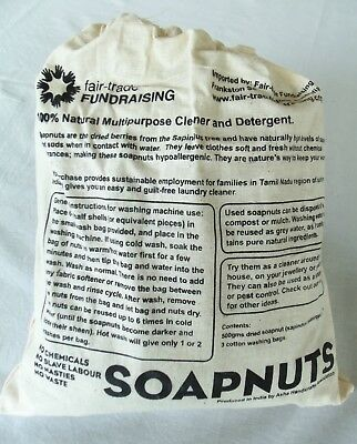 Soapnuts Fair Trade 500g wash nuts - Nature's Laundry Detergent - FREE POST