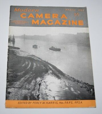 Modern Camera Magazine, March 1954 - Mist and Fog For Atmosphere