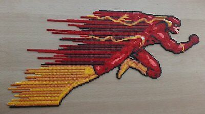 Flash DC perler art necklace rave melty edm edc sprite hama plur comic