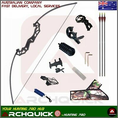 Adults Archery Longbow Hunting Kit Target Shooting Practice 30/40/50lbs Long Bow