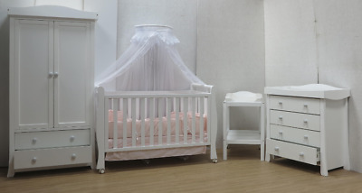 Sleigh Cot Drawer Change Table Mattress Pad Crib Baby Bed Chest Deal 1