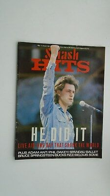 Smash Hits vol 7 no 14 UK Music Magazine 17 July 1985 Live Aid Special.