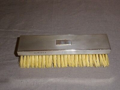 London 1935 Sterling Silver Oblong Brush - Asprey & Co