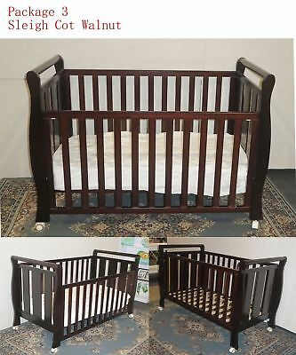 Sleigh Cot & Mattress Baby Bedding Dog