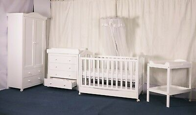 BW02 Classic Cot Drawer Change Table Mattress Pad Crib Baby Bed Chest Package