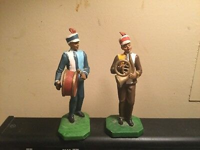 """African American/black Figurine~Set Of 2~Marching Band~Approx 6"""" Tall~Ships Free"""
