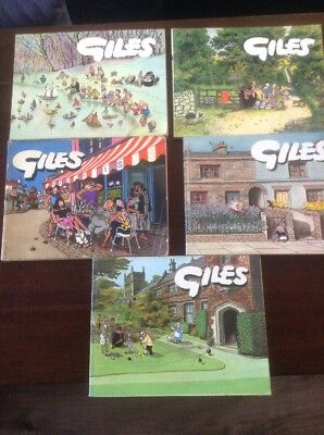 Collection Of Giles Cartoon Annuals Vintage