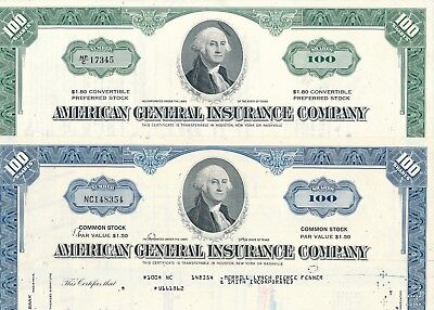 Lot: 2 x American General Insurance Company (blau,grün)