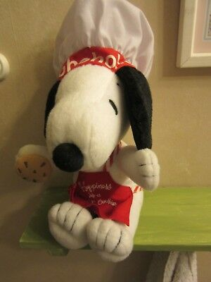 Hallmark Happiness is Snoopy Chef Plush Happiness Is A Warm Cookie Peanuts 2011