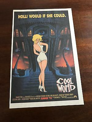 1992 VINTAGE 6.5x10 MOVIE PROMO PRINT AD FOR COOL WORLD HOLLI WOULD IF SHE COULD