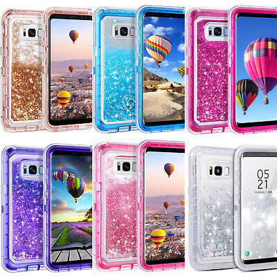Samsung Galaxy S8 Plus Liquid Glitter Quicksand Protective Shockproof Case Cover