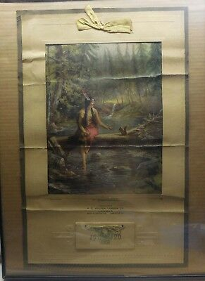 Vintage 1920 Advertising Calendar A.C.HOLDEN LUMBER CO. KISSED BY THE SUN