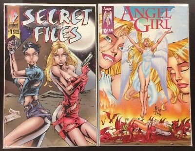Secret Files #1 & Angel Girl #1 ~VF Angel Entertainment / Al Rio! GGA Bad Girl