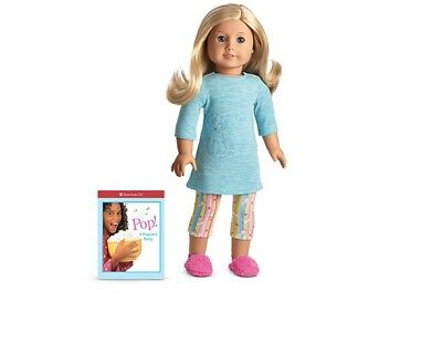 d29652baad American Girl honey puppy PJ s pajamas pink slippers dog doll clothes