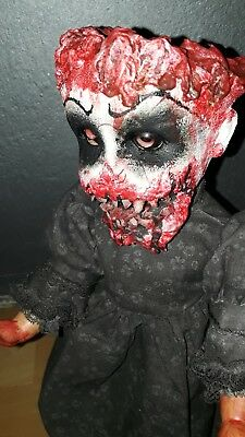 horror dolls #ooak #zombies #Living dead dolls # goth #horrordolls #haunted