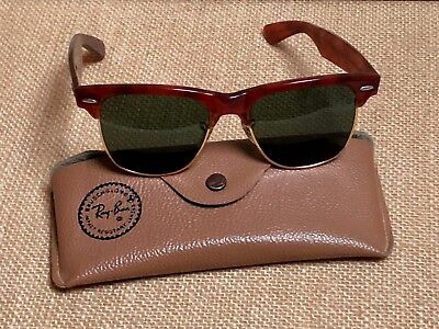 f695a084bf ... official vintage bl ray ban wayfarer max tortoise sunglasses etched  lens usa w case 4c851 9e8d5